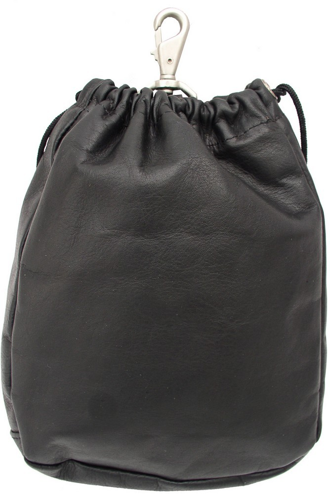 Piel Leather: Large Drawstring Pouch