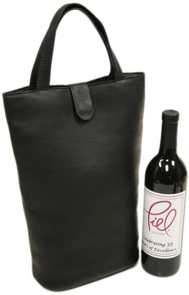 Piel Leather: Doulbe Wine Tote