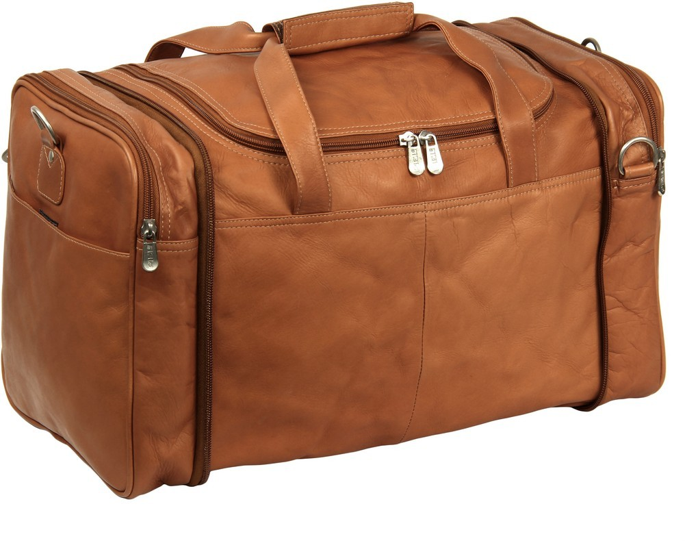 Piel Leather: Collapsible Duffel To Carry-All