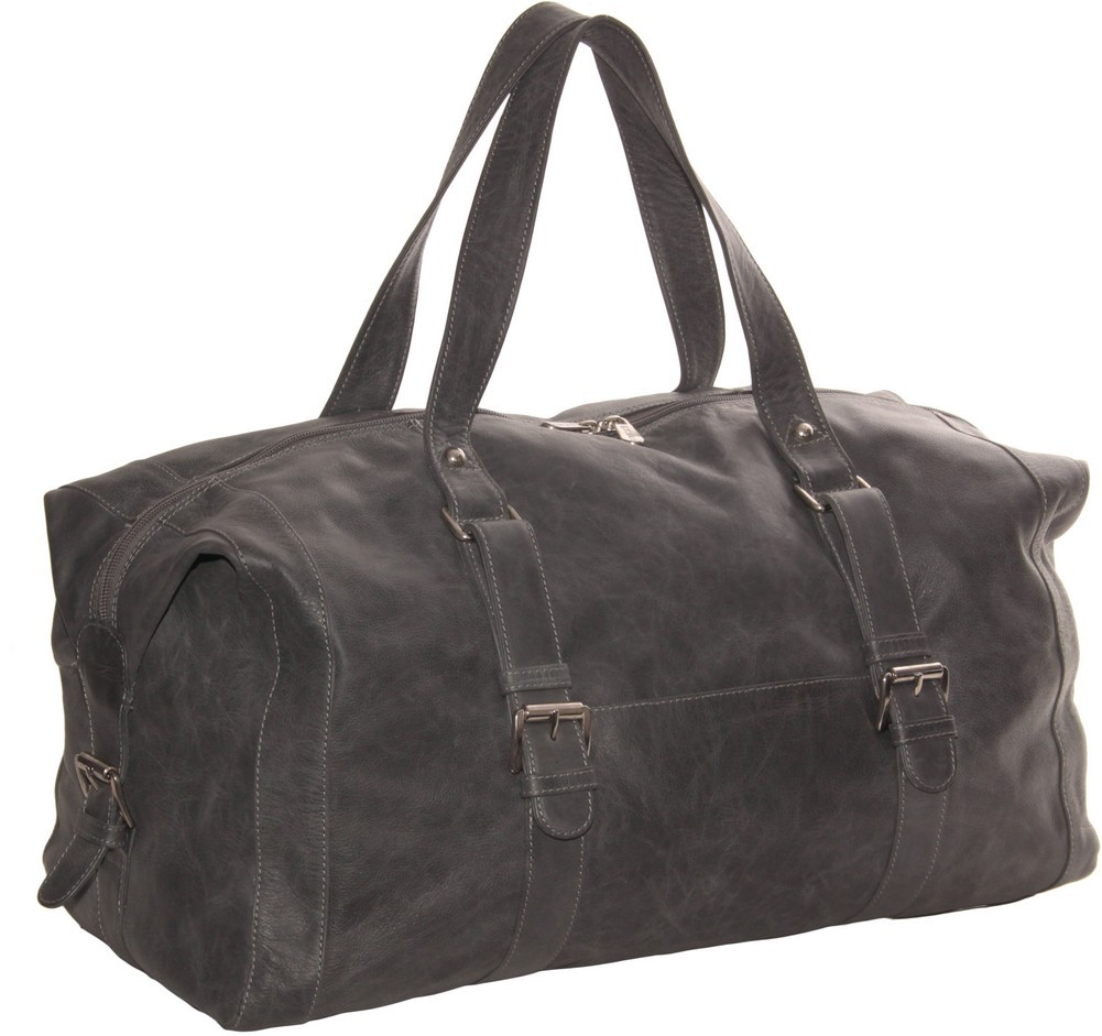 Piel Leather: Satchel with Buckles